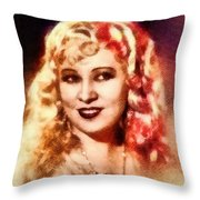 Mae West, Vintage Actress Throw Pillow