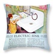 Magazine Ad, 1926 Throw Pillow