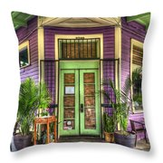 Magazine Street Resaurant Throw Pillow