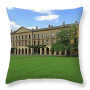 Magdalen New Building Throw Pillow