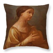 Magdalene With The Jar Of Ointment Throw Pillow