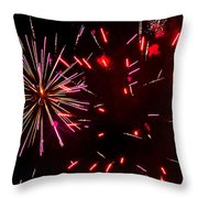 Magenta And Red Throw Pillow