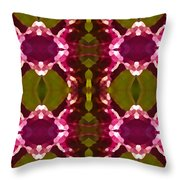 Magenta Crystals Pattern 2 Throw Pillow
