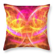 Magenta Moth Throw Pillow