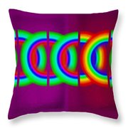 Magenta Olympic Games Throw Pillow