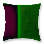 Magenta On Green Throw Pillow
