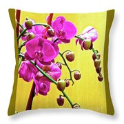 Magenta Orchid 3 Throw Pillow