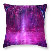 Magenta Spring Throw Pillow