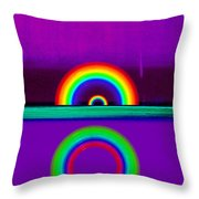 Magenta Sunset Throw Pillow