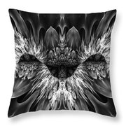Magenta Until - Black And White 2 Throw Pillow