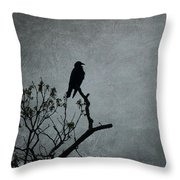 Magestic Crow Throw Pillow