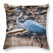 Magestic Heron Throw Pillow