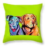 Maggie And Raven Throw Pillow