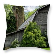 Maggie Valley Barn Throw Pillow