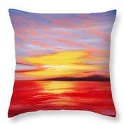 Magic At Sunset Throw Pillow