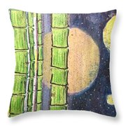 Magic Bamboo Throw Pillow