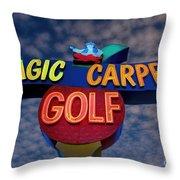 Magic Carpet Golf Throw Pillow