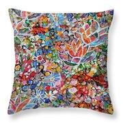 Magic Color Garden 201757 Throw Pillow