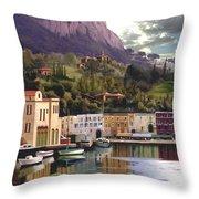 Magic Dawn Resort Throw Pillow