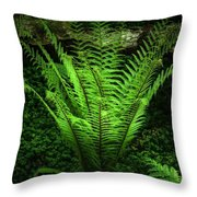 Magic Fern Throw Pillow