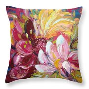 Magic Flowers Throw Pillow