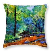Magic Forest 79 Throw Pillow
