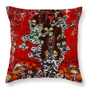 Magic Frogs Rising Throw Pillow by Carol Law Conklin