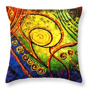 Magic Guitar Throw Pillow