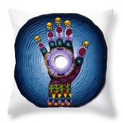 Magic Hand Throw Pillow by Arla Patch