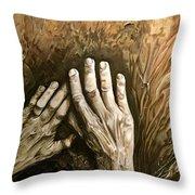 Magic Hands Throw Pillow