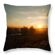 Magic Hour At Chasewater Throw Pillow