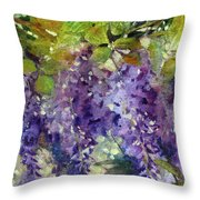 Magic In Purples And Greens Throw Pillow