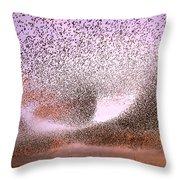Magic In The Air - Starling Murmurations Throw Pillow