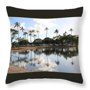 Magic Island Throw Pillow