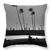 Magic Island Silhouettes Throw Pillow