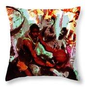 Magic Johnson Taking Flight Throw Pillow