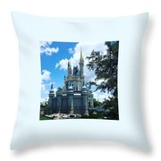 Magic Kingdom Cinderella's Castle #3 Throw Pillow