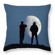 Magic Landscapes 2 -- Moon Men Throw Pillow