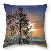 Magic Morning Throw Pillow