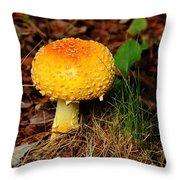 Magic Mushroom  Throw Pillow