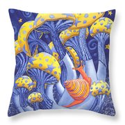 Magic Mushrooms Throw Pillow