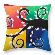 Magic Of Black With The Colourful Lake  Throw Pillow