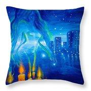 Magic Of The Night Throw Pillow