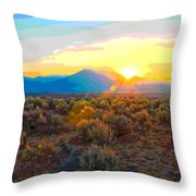 Magic Over Taos Throw Pillow