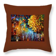 Magic Rain Throw Pillow