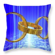 Magic Rings Throw Pillow