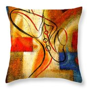 Magic Saxophone Throw Pillow