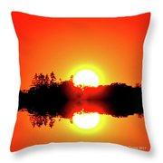 Magic Sunset  Two  Throw Pillow