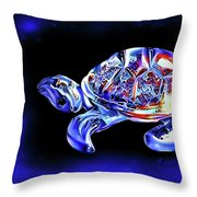 Magic Turtle Throw Pillow