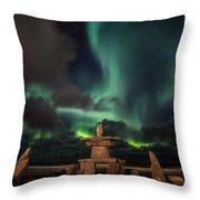 Magical Aurora Throw Pillow